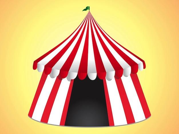 Circus tent entertainment event logo