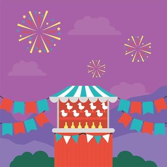屋外市場での販売のためのサーカステント