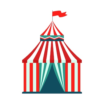 Цирковой шатер - изолированный аттракцион карнавала в парке развлечений