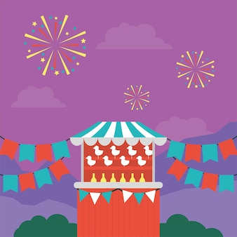 Circus tent for outdoor market sales