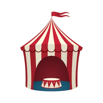 Circus tent  on white background.  illustration.