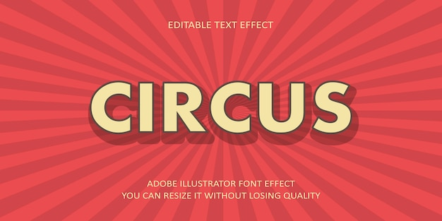 Circus text font effect