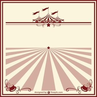 Circus vintage poster template