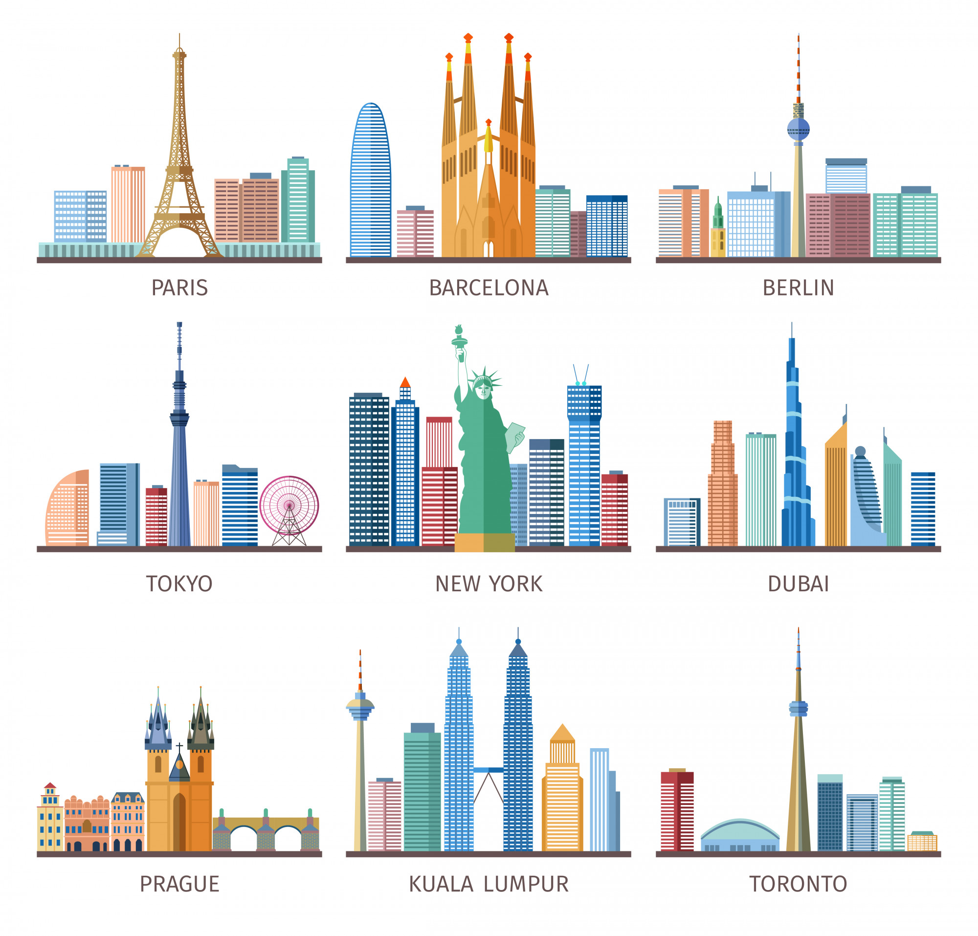 Cities Skylines Icons Set