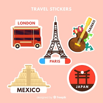 Cities sticker collection