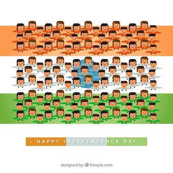 Citizens celebrating india independence day background