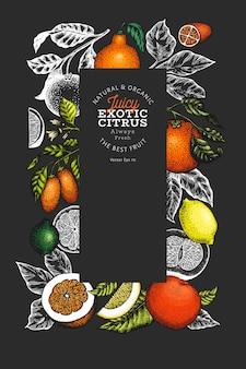 Citrus banner template