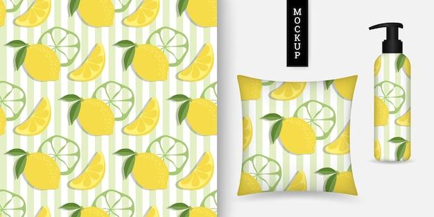 柑橘系の果物のシームレスなパターン