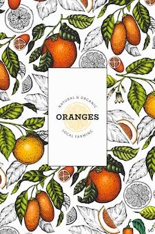 Citrus fruits template.
