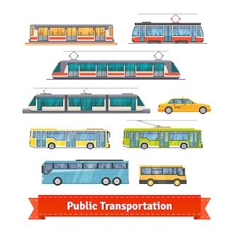 도시 및 도시 간 운송 차량 세트