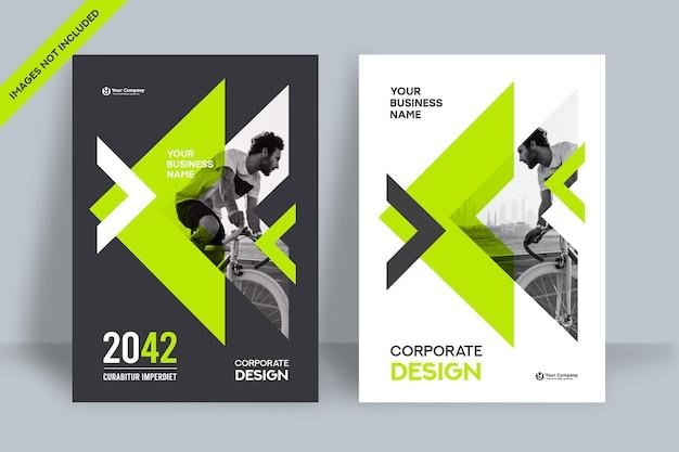 Шаблон оформления обложки бизнес-книги фон города в формате a4. может быть адаптирован для брошюры, годового отчета, журнала, плаката, корпоративной презентации, портфолио, флаера, баннера, веб-сайта.