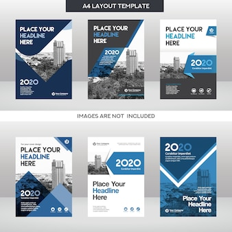 City Background Business Book Cover Design Template Set