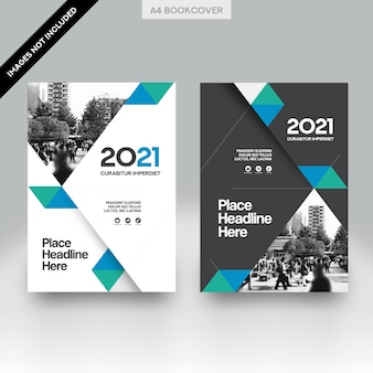 City Background Business Book Cover Design Vector Template