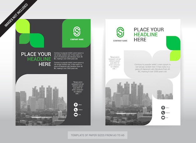 City background business cover design template.