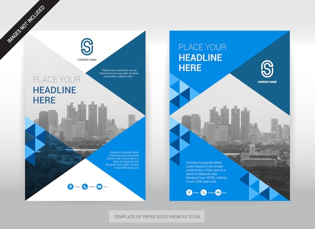 City background business cover design template