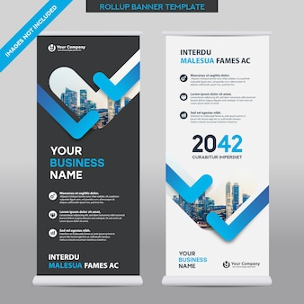 City background business roll up design template.flag banner design.
