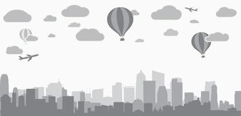 不動産サービスの広告のための都市の背景