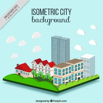 Город фон в изометрической стиле