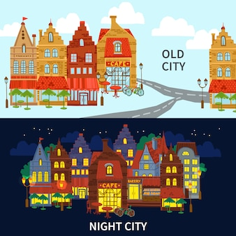 City banner set