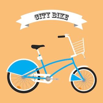 City bike cartoon