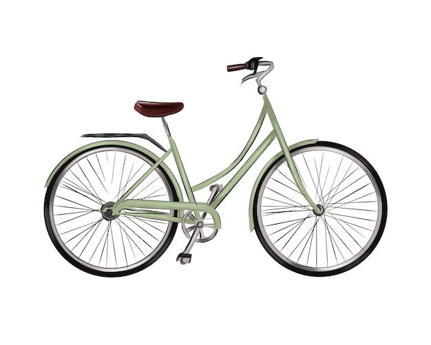 City bike from multicolored paints splash of watercolor colored drawing realistic