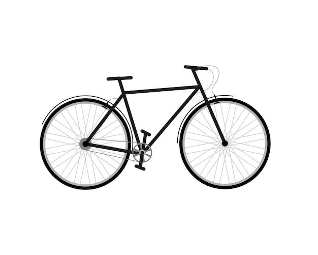 City bike. man bicycle high frame vector illustration
