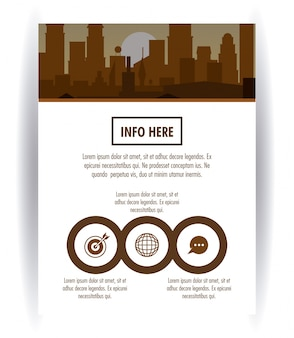 City brochure infographic