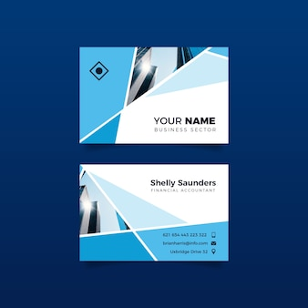 City building design for business card