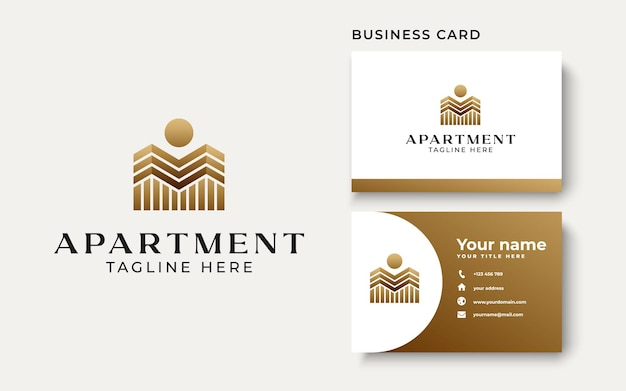 City building logo template isolated in white background. vector illustration
