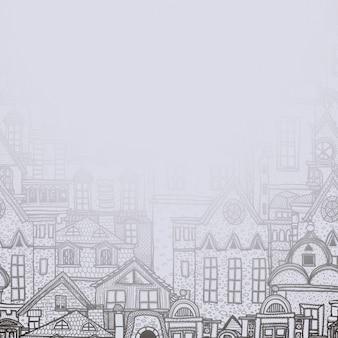 Городские здания дизайн фона