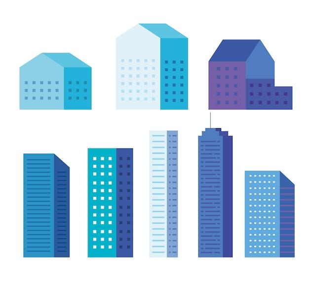 都市の建物は、デザイン、建築、都市のテーマを設定します