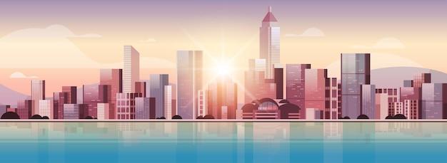 都市の建物のスカイラインの図