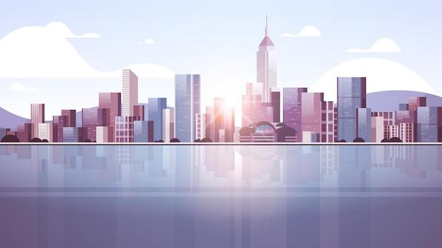 도시 건물 스카이 라인 그림