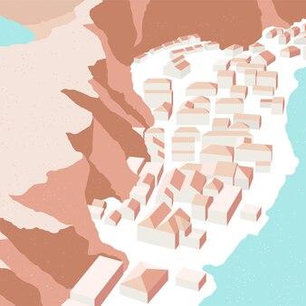 都市の建物は都市のシーンの背景を表示します