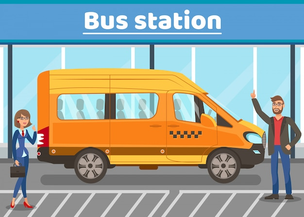 City bus stop flat web