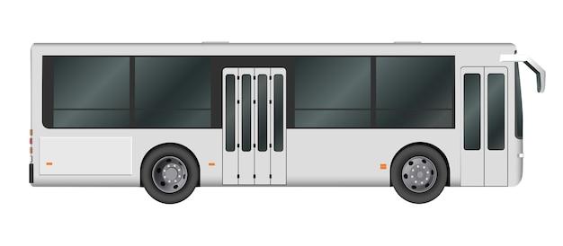 Шаблон городского автобуса. пассажирский транспорт. векторная иллюстрация eps 10, изолированные на белом фоне.