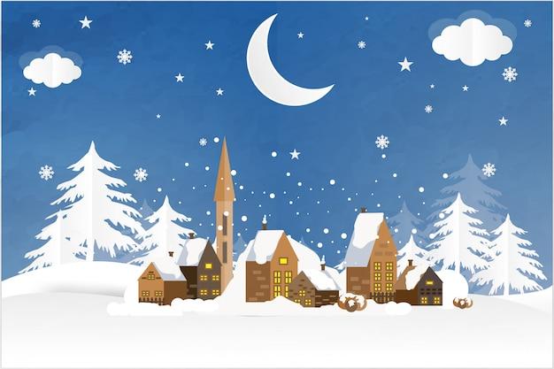 City christmas blue bg