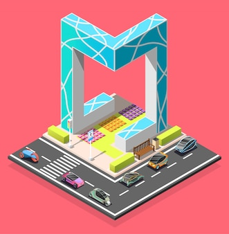 City constructor isometric element