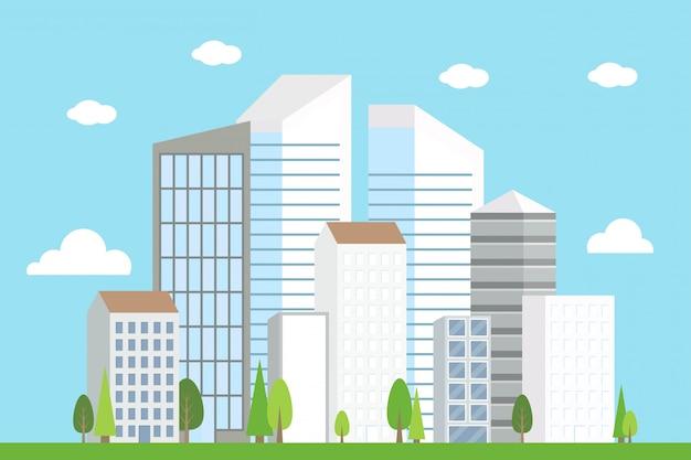 City downtown landscape, modern building