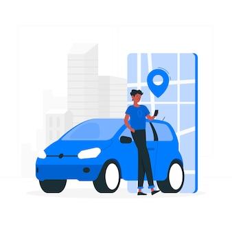 Городской водитель концепции иллюстрации