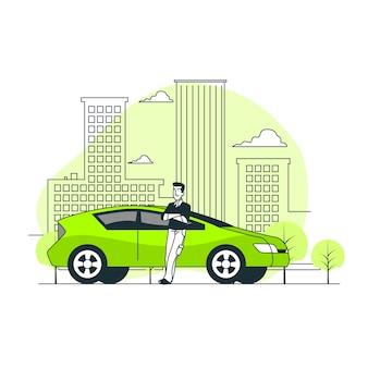 City driver concept illustration