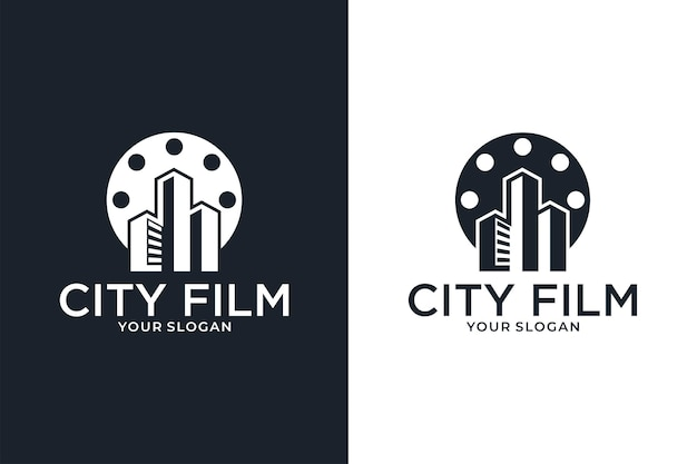 City film movie logo design