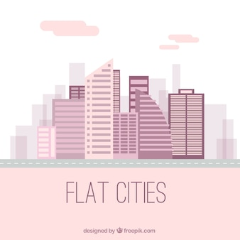City in a flat style