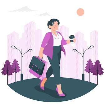 Иллюстрация концепции девушки города