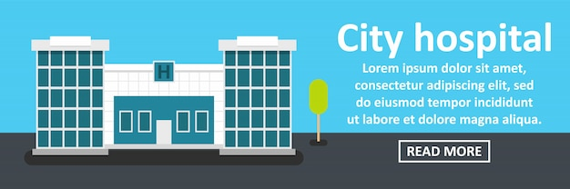 City hospital banner horizontal concept
