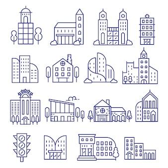 City icons.