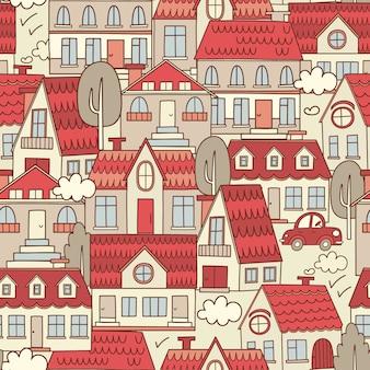 Disegno della città illustrazione