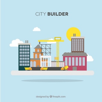 The city is being built