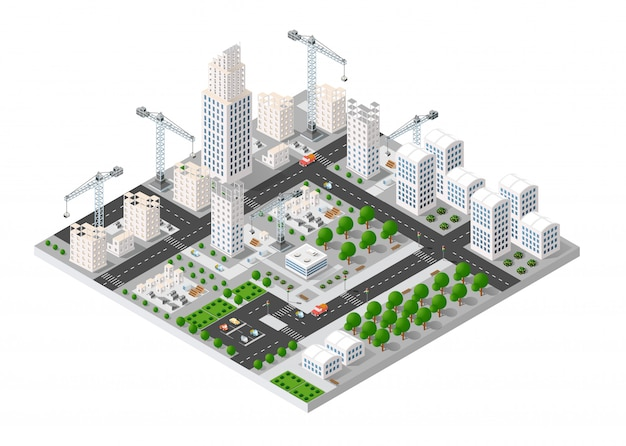 City isometric industry