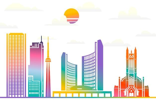 ビデオ通話のための都市のランドマークの背景
